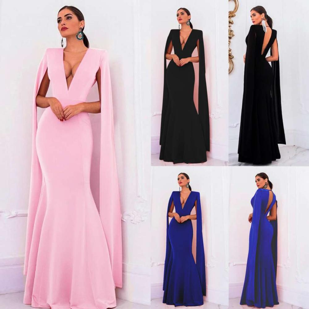 Hot Selling Formal Dress Mandarin Sleeve Evening Party Gowns