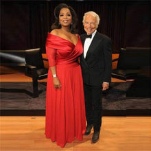 Load image into Gallery viewer, Elegant Oprah Winfrey New Red Off The Shoulder Evening Dress