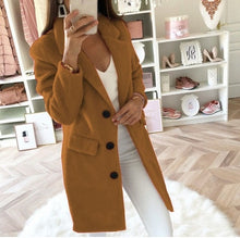 Charger l'image dans la galerie, Women Wool Long Winter Coat Outerwear
