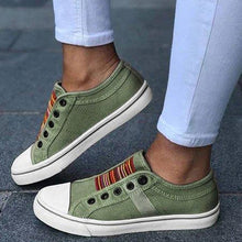 Load image into Gallery viewer, Casual Women Low-cut Trainers Canvas Flat Shoes