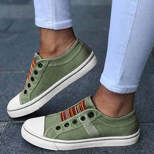 Casual Women Low-cut Trainers Canvas Flat Shoes