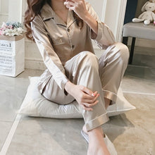 Load image into Gallery viewer, 2PCS Women Silk Pajamas Sets
