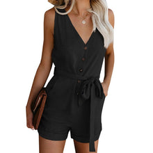 Load image into Gallery viewer, Casual Fashion Women Off Shoulder Belted Playsuit
