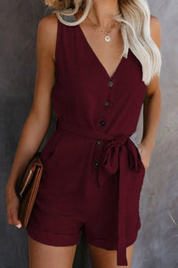 Casual Fashion Women Off Shoulder Belted Playsuit