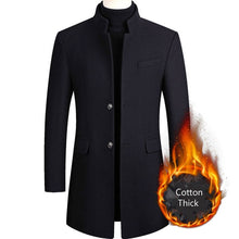 Load image into Gallery viewer, Autumn & Winter Woolen Blend Coat Long Windbreaker Jacket
