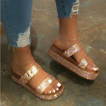 Load image into Gallery viewer, Women Sequins Sandals