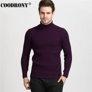COODRONY Winter Thick Warm Cashmere Men Turtleneck Sweater