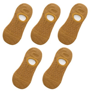 5 Pairs/Set Women Silicone Non-slip Invisible Summer Socks