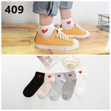 Load image into Gallery viewer, 5Pairs Arrivl Women Happy Silicone Slip Invisible Cotton Sock 35-40