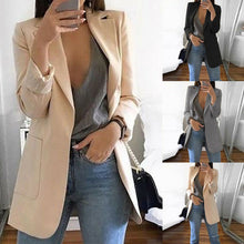 Load image into Gallery viewer, New Women Casual Long Sleeve Coat Suit Office Ladies Slim Cardigan Tops Blazer Jacket Outwear