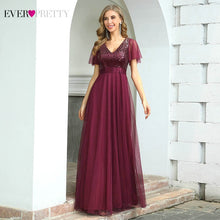 Load image into Gallery viewer, Burgundy Formal Dresses Ever Pretty & Elegant