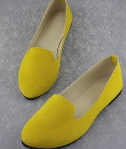 YEELOCA Women Flats Candy Color Shoes