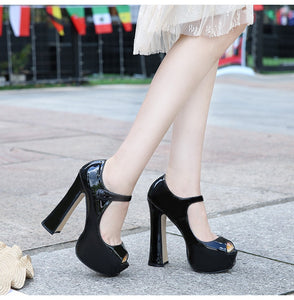 Fashion Sexy Thick Bottom High Heels  Women's Shoes BG-27 (Waterproof)