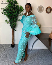 Load image into Gallery viewer, African Girls Celebrity Mermaid Lace Evening Party Dresses