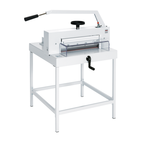 Ideal-MBM Triumph 4705 Manual Tabletop Cutter with Stand package