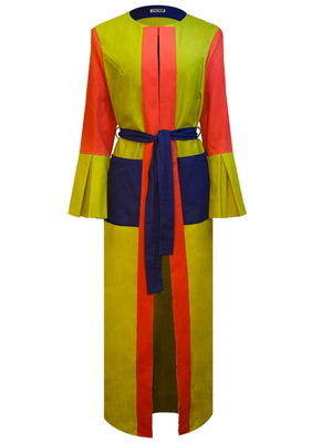 Open image in slideshow, Love & Osker Color Block Luxe Robe (Front View)