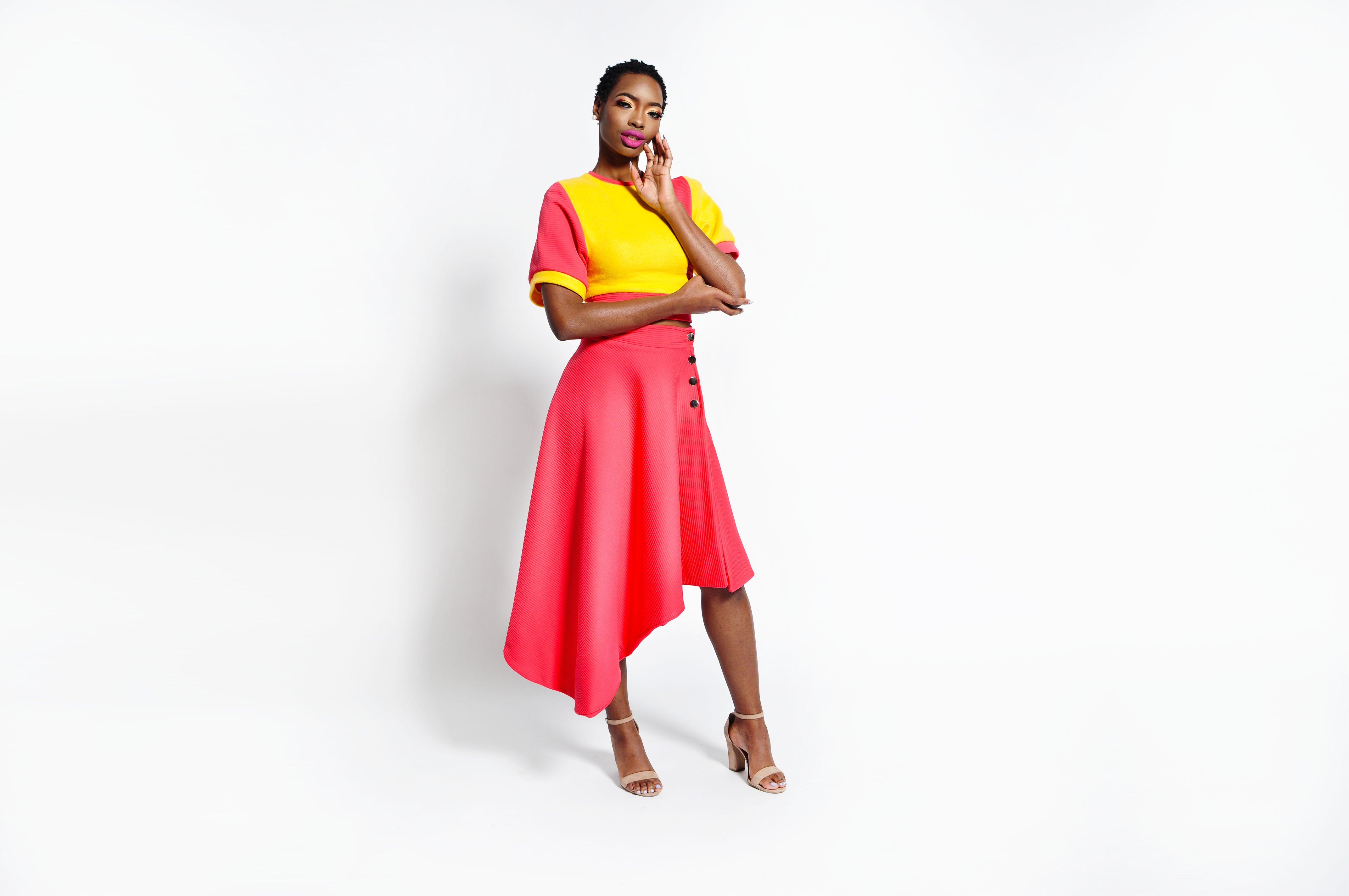 THE CHANEY COLOR BLOCK TOP (RUNWAY SAMPLE)
