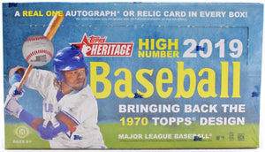 2019 Topps Heritage High Number Hobby Box