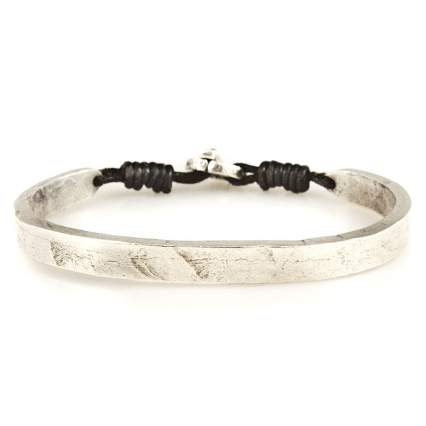 Sterling Silver Carved Full Cuff Bracelet