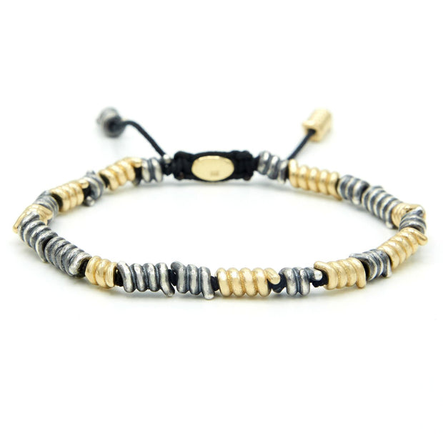 Coil Bracelet with Gold Detail