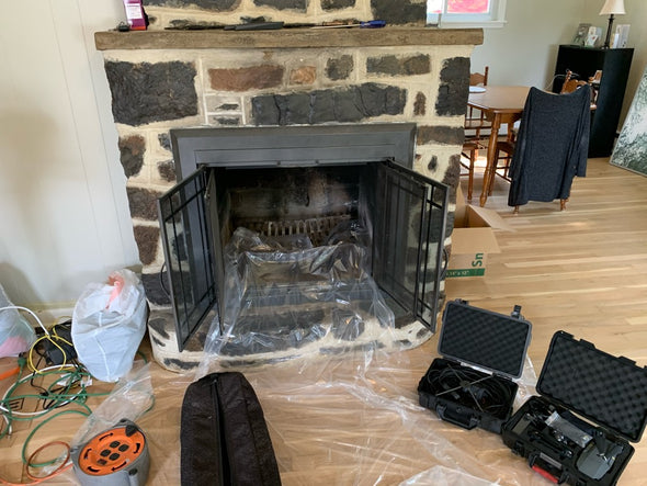 Gas Insert Flue Cleaning