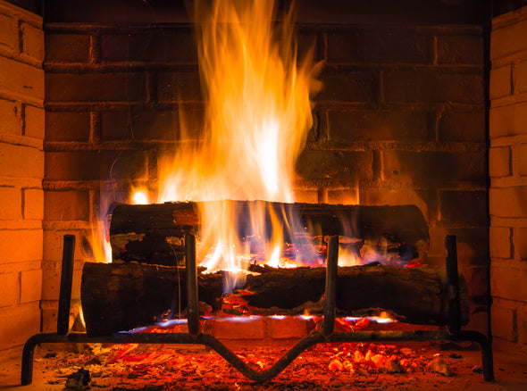 Wood burning fireplace cleaning