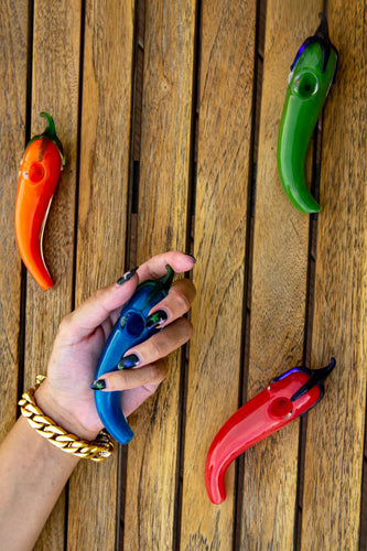 hot chilli pepper glass smoking bowl/pipe
