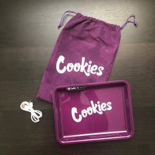 Load image into Gallery viewer, purple cookies brand led glow rolling tray in cincinnati, ohio