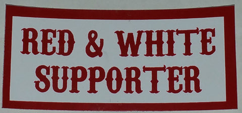 Red & White Supporter Decal - So Cal Clothing