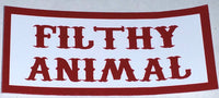 Filthy Animal Decal - So Cal Clothing