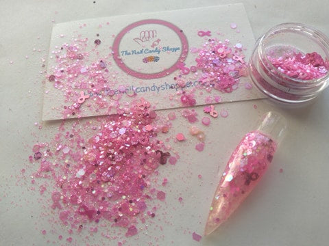 pink ladies solvent resistant nail resin glitter mix