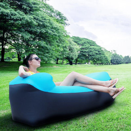 Outdoor Internet celebrities lazy person inflatable sofa air mattress single recliner portable camping afternoon break air-free folding