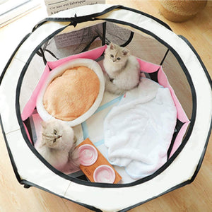 Closed Pet Pregnancy Delivery Room Grid Cloth Clean Skylight Cat Nest Tent Breathable Anti-Mosquito Pet Kennel