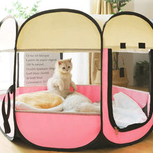 Load image into Gallery viewer, Closed Pet Pregnancy Delivery Room Grid Cloth Clean Skylight Cat Nest Tent Breathable Anti-Mosquito Pet Kennel