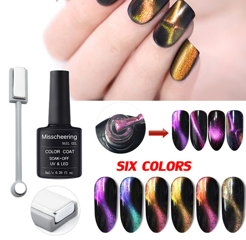 Polish 5D Nail Gel Magnet Magic Cat Eye Gel Nail Art UV LED Gel Magnet Slice Set