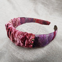 Load image into Gallery viewer, old rose and plum hairband