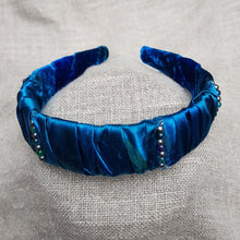 Load image into Gallery viewer, hairband blue with beads