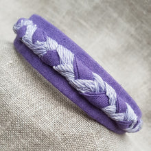 Load image into Gallery viewer, Lavender linen hairband