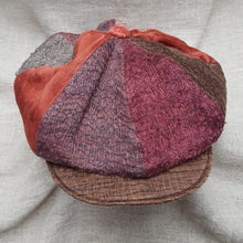 Load image into Gallery viewer, Mango & Burgundy silk and linen hat