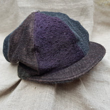 Load image into Gallery viewer, Purple & Copper silk and linen hat