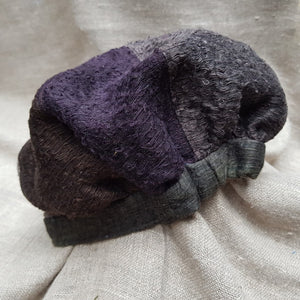 Purple & Copper silk and linen hat