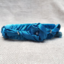 Load image into Gallery viewer, teal blue velvet hairband