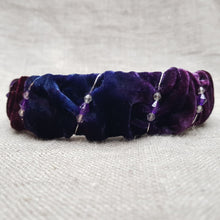 Load image into Gallery viewer, indigo and mulberry velvet hairband
