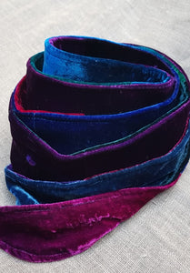 Multi Jewel Velvet Sash