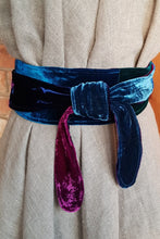 Load image into Gallery viewer, Multi Jewel Velvet Sash