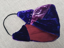 Load image into Gallery viewer, Sapphire and Amethyst velvet bandana