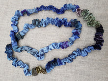 "Load image into Gallery viewer, ""Starry Night"" silk & velvet necklace"
