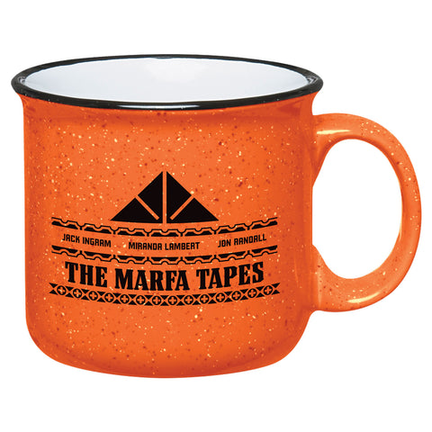 "Mug front with ""The Marfa Tapes. Jack Ingram, Miranda Lambert, Jon Randall."""