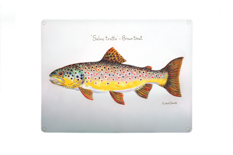 Brown Trout Glass Chopping Board