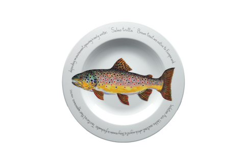 Brown Trout Rimmed Pasta Bowl